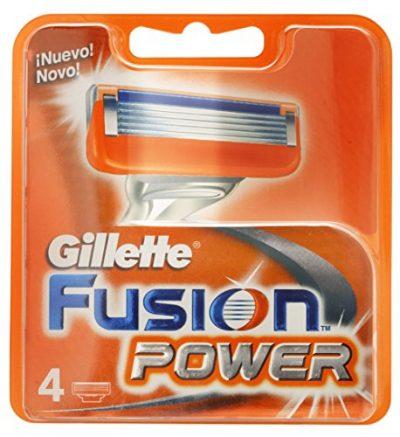 Pack de 4 recambios Gillette Fusion Power