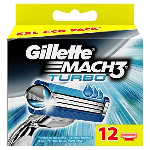 12 recambios Gillette MACH3 Turbo