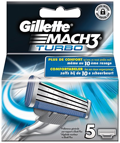 5 recambios Gillette MACH3 TURBO