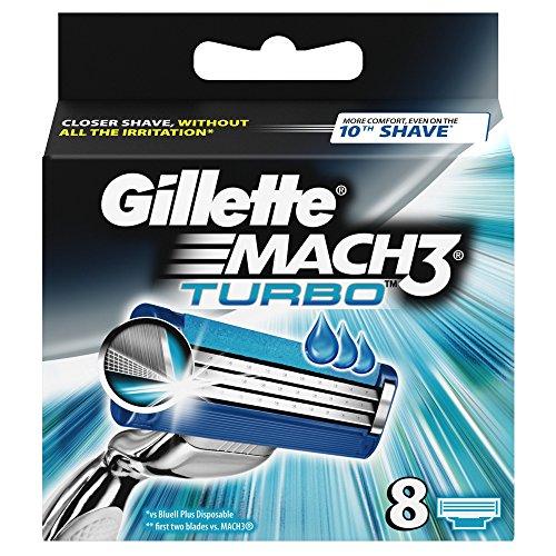 8 recambios Gillette MACH3 TURBO
